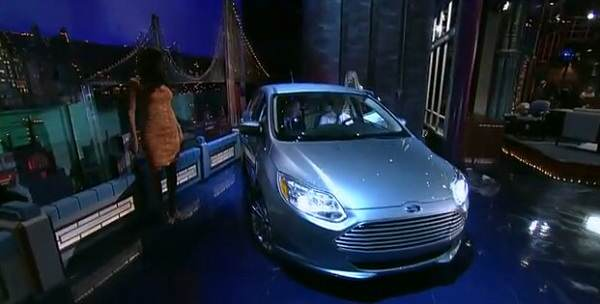 Ford Focus Electric 2012 на сцената на The Late Show