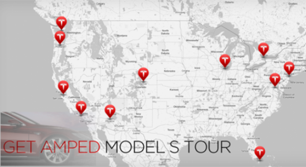 tesla motors get amped tour model s