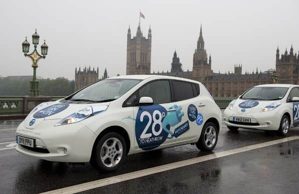 Nissan-LEAF-London taksi