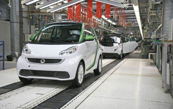 proizvodstvo smart fortwo electric